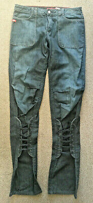 NEW MISS SIXTY Sexy Unique Rare LACE-UP LEGS Blue Jeans Tall Long SIZE W30  L35  • 5£