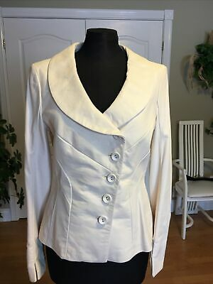 $ CDN199 • Buy NEW With TAGS DANIER Ivory Leather Jacket Size S/P