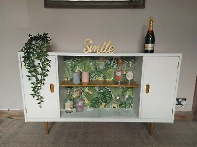 £135 • Buy Beautifully Upcycled Drinks Cabinet Bar / Sideboard / TV Stand