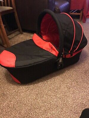 ICandy Cherry Carrycot. Condition - Excellent 'used' Clean. Black And Red.. • 25£
