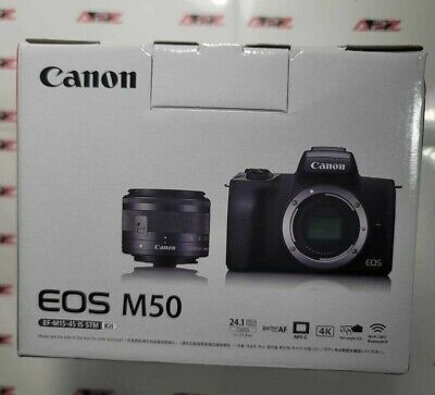 View Details NEW Canon EOS M50 Mirrorless Digital Camera With 15-45mm Lens - Black + Next Day • 598.88£