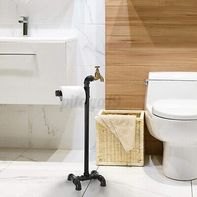 AU36.99 • Buy Industrial Iron Toilet Paper Tissue Rack Holder Stand Storage Home Bathroom 25in