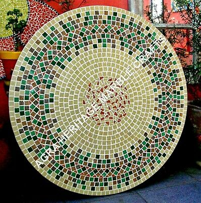 AU2995.93 • Buy 36  Beautiful Marble Round Dining Table Top Mosaic Multi Inlay Stone Decor H3464
