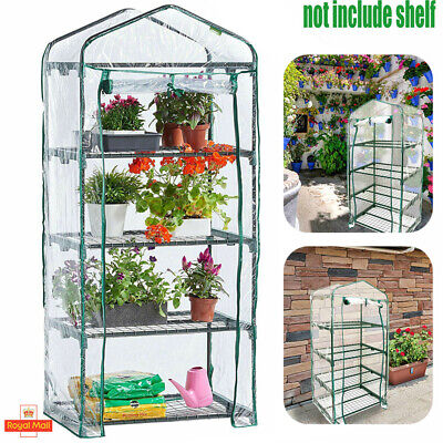 4 Tier Mini Greenhouse Replacement Cover Grow House Protector – Mesh COVER ONLY • 8.59£
