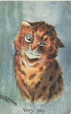 £35 • Buy Louis Wain Cats. Very Gay # 453 F By Faulkner.