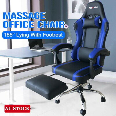 AU120.90 • Buy AYLESEA Gaming Office Chair Racing Executive Computer Seat PU Leather Footrest