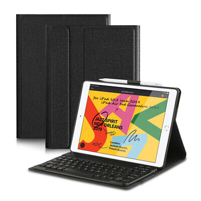 AU33.35 • Buy For IPad 7th 2019 Gen Pro 10.5 Bluetooth Keyboard Case Stand With Pencil Holder