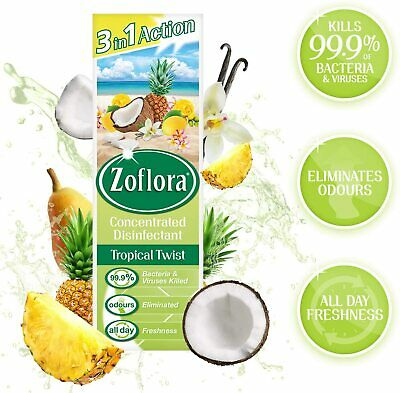 Zoflora Multi-purpose Antibacterial Disinfectant Tropical Twist-250ml • 4.15£