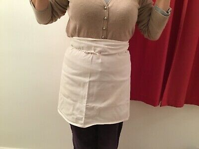 Short White Bakery Aprons X 2. Heavy Quality 100% Cotton.Fit Ladies Size 6/8/10 • 8£