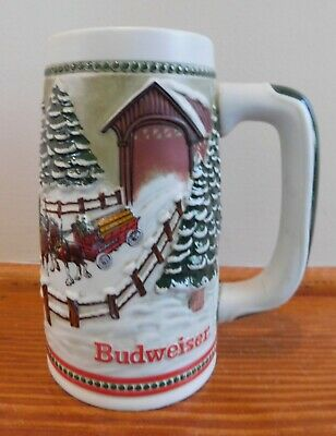 $ CDN8.81 • Buy 1984 Budweiser Clydesdales Holiday Tradition Beer Stein Mug