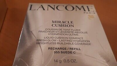 2 X Lancome Miracle Cushion Refill 555 Suede C, New, 14g 4935421610025 • 1.49£