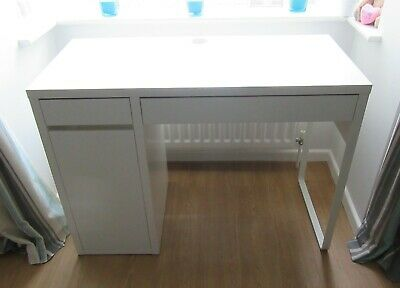 White Desk - With Drawers & Cupboards - Ikea - Computer / Office / Home / Study • 45£