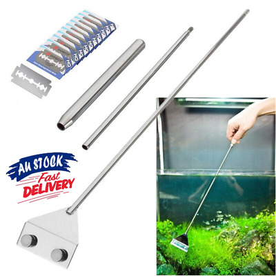 AU18.52 • Buy 25.5  Aquarium Stainless Steel Algae Scraper Blade Fish Tank Glass Cleaner AU