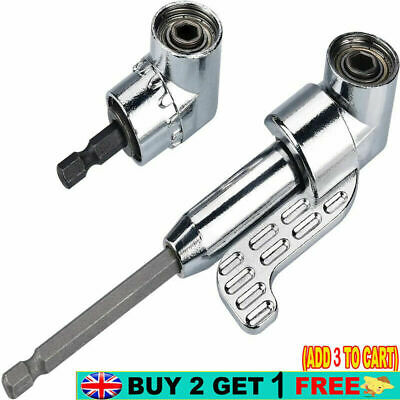 £5.66 • Buy 105° Right Angle Drill Adapter 1/4 Hex Shank Drill Extension Holder Power Tool