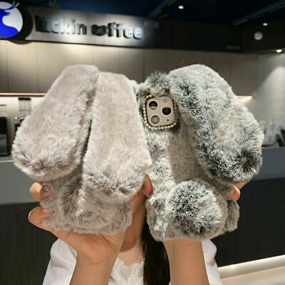 Cute Rabbit Fur Plush Fuzzy Fluffy Case Cover For IPhone 11 Pro Max 8 Plus 7 6S • 5.29£