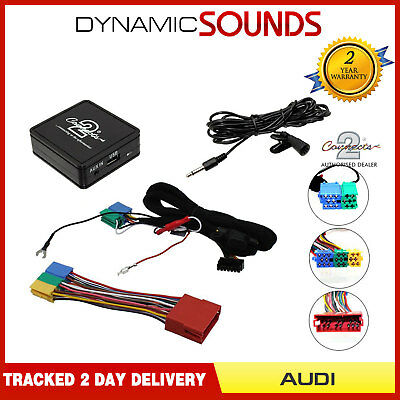 Bluetooth Music Streaming Handsfree Car Kit AUX USB MP3 IPhone For Audi A6 98-04 • 75.90£