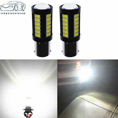 $7.89 • Buy 2X 1156 3014 High Power 33 SMD 6000K White Tail Brake Stop LED Lights Bulbs US