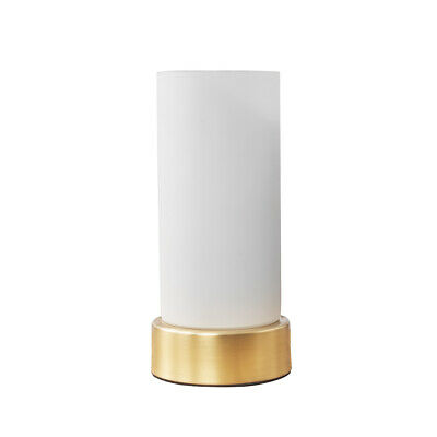 £16.99 • Buy Gold Metal Touch Table Lamp Light Frosted Glass Shade Bedside Lighting LED Bulb