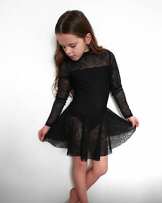 Black Lace Lyrical Skirted Leotard • 27.99£