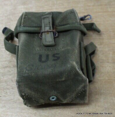 $59.98 • Buy RARE Vietnam Short 20rd Case Small Arms M16A1 Rifle Ammo Pouch Canvas M1956