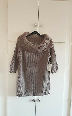 Land's End Merino Blend Off The Shoulder Cowl Jumper Tunic Size L Petite  • 25£