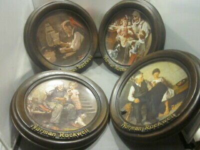 $ CDN25.30 • Buy LOT 4 Of Norman Rockwell Collector Plates In Frames HOLDERS TOY MAKER, SHIP B...