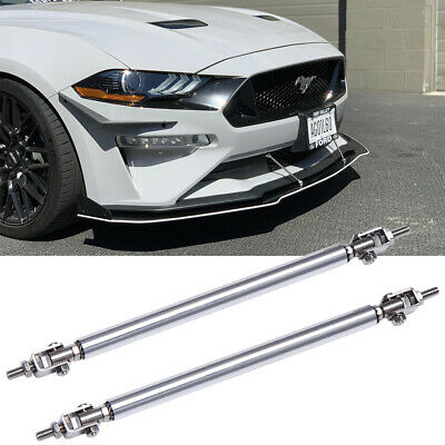 $15.55 • Buy For Ford Mustang GT V6 Front Bumper Lip Splitter Strut Rods Tie Support Bars
