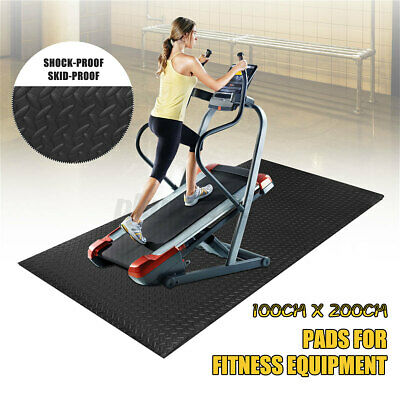 AU28.94 • Buy Treadmill Gym Floor Mat Fitness Exercise Bike Go Fit Pad Protect Equipment 2x1m