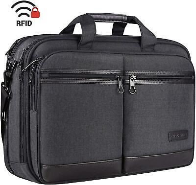 "KROSER 18"" Laptop Bag Stylish Laptop Briefcase Fits Up To 17.3 Inch Expandable • 31.87£"