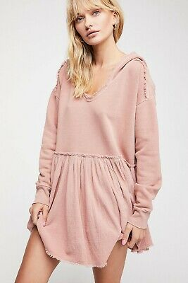 $ CDN38.04 • Buy Free People Summer Dreams Pullover Dress M Hoodie Sweatshirt Tunic NEW 17071
