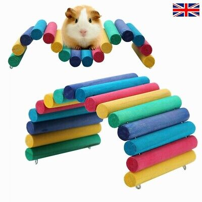 Wooden Ladder Bridge Hamster Mouse Rat Rodents Toy Small Animal Chew Toy Pet UK • 8.46£