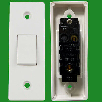 £3.49 • Buy 1 Gang 1 Way 10A White Architrave Light Rocker Wall Switch BS60669-1 Compliant
