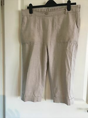 Bonmarche  Ladies Oatmeal Long Shorts Size 16 • 2.99£