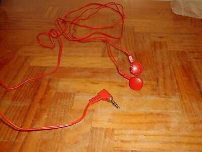 BRIGHT RED EARPHONES FOR PERSONNEL STEREO WALKMAN OR LAPTOP 3.5mm JACK  • 3£
