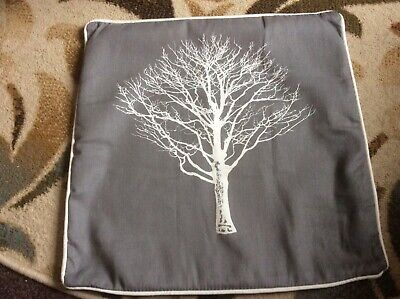 Lovely Grey Reversible Tree Cushion 45 Cms X 45 Cms In VGC  • 2£