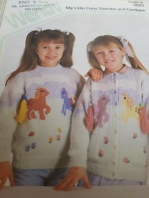 Used Wendy Knitting Pattern For My Little Pony Sweater & Cardigan Sizes 26 -30  • 1.99£
