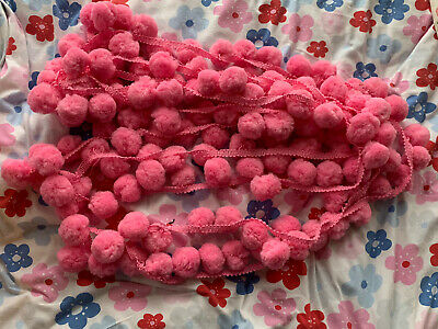 Red Jumbo Pom Pom Trim Job Lot 5m + • 5£