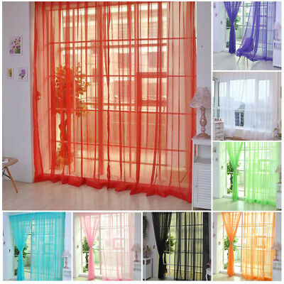 Sheer Tulle Voile Net Curtains Tab Top Blush Panels Sorted Multi Color • 5.26£