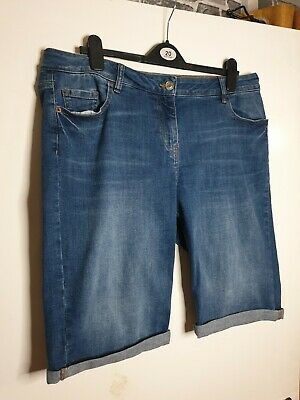 Ladies Next Size UK 16 Stretch Denim Knee Shorts • 4.20£