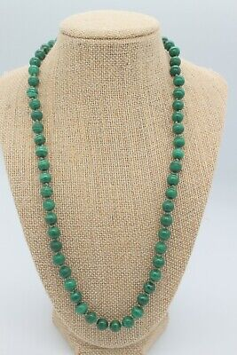 $ CDN37.96 • Buy  WK WHITNEY KELLY Sterling Silver & MALACHITE Knotted Bead NECKLACE 24