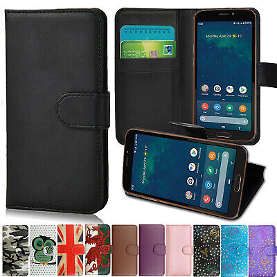 Slim Premium Leather Mobile Phone Wallet Book Case Cover For All Doro Phones • 2.99£
