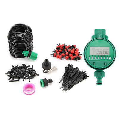 Micro Drip Irrigation System Set Automatic Watering Garden Hose Watering W/Timer • 12.99£