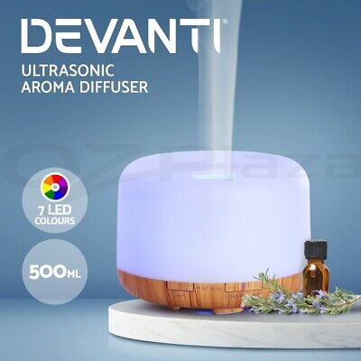 AU8.45 • Buy Devanti Aromatherapy Diffuser Aroma LED Light Ultrasonic Air Humidifier 500ml