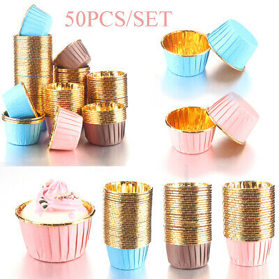 £4.49 • Buy 50pcs Paper Cups Cake Cupcake Wrappers Muffin Cases Baking Cup Cake Liner