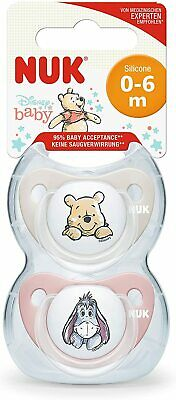 £7.19 • Buy NUK / 2PCS Disney Baby Dummies / 0-6 Months / Silicone Soothers / BPA Free