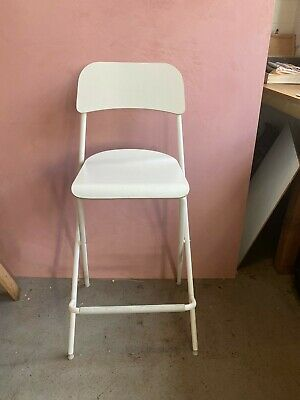 7 X Ikea Franklin Tall Bar Stool With Back Rest White- Barely Used Job Lot • 50£