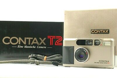 $ CDN1389.05 • Buy ●●[Near MINT In Box] Contax T2 Titan Silver Point Shoot Film Camera From Japan●●