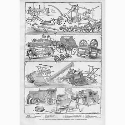 £12.95 • Buy Royal Agricultural Society Exhibition Of Agricultural Implements Old Print 1879