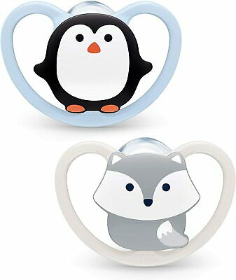 £8.32 • Buy NUK 2pcs Space Baby Dummy / 0-6 Months / Soothers / BPA-Free Silicone / Penguin&