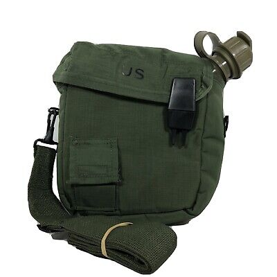 $ CDN22.53 • Buy Unicor 2 QT Collapsible Water Canteen Green Cover Pouch Sling US Army
